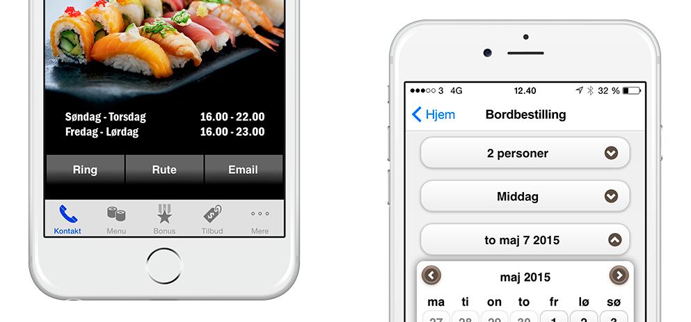 Bordbestilling. Bestil bord fra mobilen. Bordreservation gjort nemmere med apps