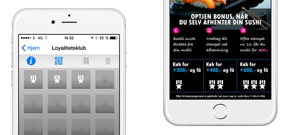 Loyalitetsprogrogram, kundeklub, stempelkort og klippekort på mobilen