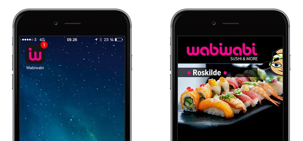 Restaurant App'en designes så den passer til din restaurants visuelle identitet