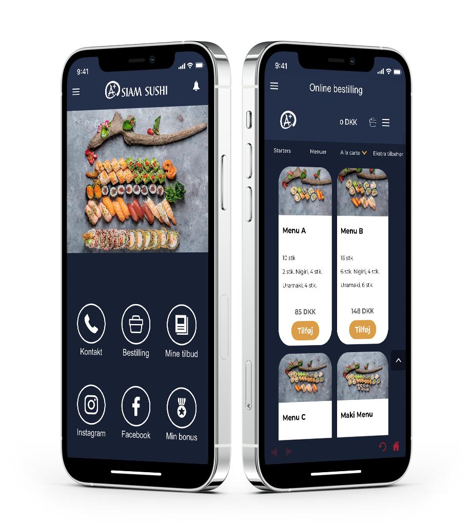 forside_online_bestilling_Restaurant_app